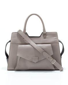 PS13 Medium Bicolor Satchel Bag, Gray/Back by Proenza Schouler at Bergdorf Goodman.