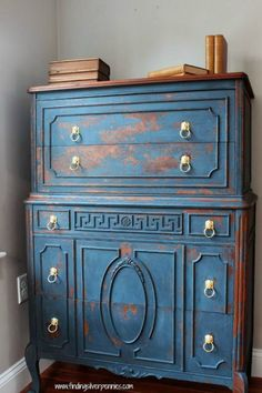 So Much Better With Age | 10  Heavily Distressed Chippy Furniture Pieces | http://www.somuchbetterwithage.com
