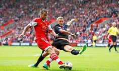 September 2013: Southampton's Dani  Osvaldo, left, scored against Crystal Palace in the Premier League at St Mary's.