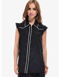 Button Up Blouse  Black