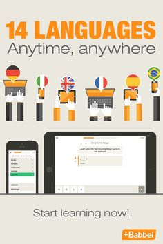 Whether you're looking to learn French, Russian or Spanish, Babbel is the easy language learning tool that allows you to learn anytime, anywhere. Available on the web, smartphone, tablet and Apple Watch, Babbel fits seamlessly into your everyday life. Babbel even listens to you speak and helps you perfect your pronunciation. Learn a new language in no time with Babbel.