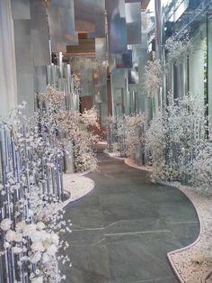Wedding Backdrop Design, Wedding Stage Design, Wedding Set Up, Wedding Designs, Gypsophila Wedding, Flower Shop Design, Wedding Aisle Decorations, Event Decor, Event Design