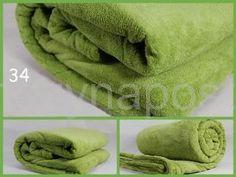 Elegantní plyšová deka v světle zelené barvě