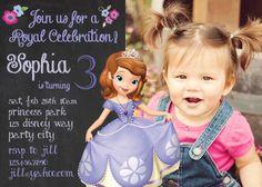 Princess Sofia birthday invitation  Disney by GreyhoundGraphics, $9.99