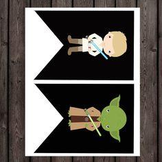 star wars baby shower banner its a boy banner por AmysDesignShoppe