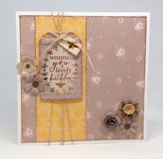 Card created using Queen Bee collection, made by Julie Hickey www.craftworkcards.com
