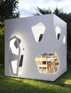This futuristic playhouse has us wishing we were kids again. #etsyfinds