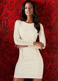 Zipper detail sheath in the VENUS Line of Dresses for Women