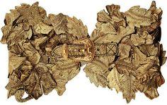 Alexander McQueen Cracked-leather leaf corset belt