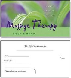 Looking for some creative ideas for making gift certificates for your massage therapy practice? We