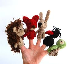 finger puppets birthday party crocheted animals tiny by crochAndi
