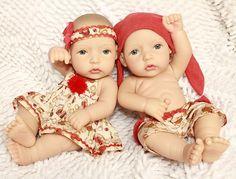 Girl and boy Twins Baby Dolls Lifelike Reborn Baby Twins toy 12inch dolls