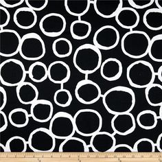 Abstract Circle Drapes - Circle Curtains - Premier Prints Freehand - Lined Curtain Panels - Custom S Black Pillow Covers, Couch Pillow Covers, Black Pillows, Duvet Covers, Black And White Valance, Black And White Fabric, Black White, Ivory White, Etsy Fabric