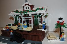 Winter Village: Train Depot by toorayay on EB