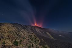 Etna di notte dalla Valle del Bove | Flickr - Photo Sharing!