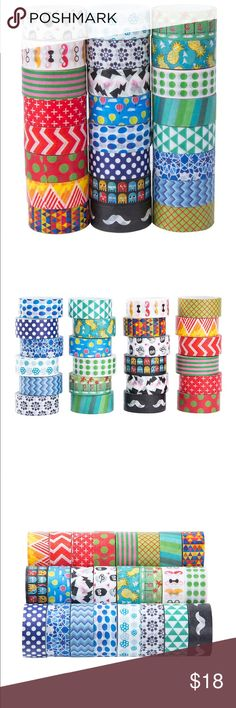 24 Rolls Washi Masking Tape Set craft tape About this item Features 24 DIFFERENT DESIGNS - Each roll of top quality decorative tape measures 0.59in(1.5cm) wide and 13.1ft(4m) long to give you endless creative fun!The washi tape set has a vintage theme with feminine flower patterns, perfect for adding a country-chic touch to wedding banners, gift wrap, and picture frames.Featuring beautiful floral patterns and whimsical animal designs, this pack of 24 washi tapes will add beauty to all your…