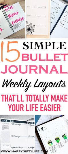 I love these minimalist bullet journal weekly layout ideas. Weekly spread ideas suitable for bujo beginners. #bulletjournal #journal #bujo #minimalist #minimalistbulletjournal #minimalism #planner #bestplanners