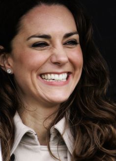 Kate Middleton. What's not to love?! She's gorgeous, personable, gracious, kind, proper yet human :) Just looking at this smile I have to believe she and Diana would have been thick as thieves <3