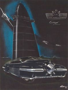 1940 Airex Radial concept designed by Richard Arbib.