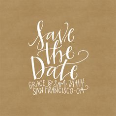 Save the Date Stamp - Custom Hand-Lettered Just For Your Event!