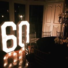 Our light up numbers