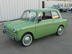 Great looking Kermit the frog green Autobianchi Fiat