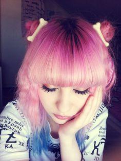 Image result for anime pastel art hair bone