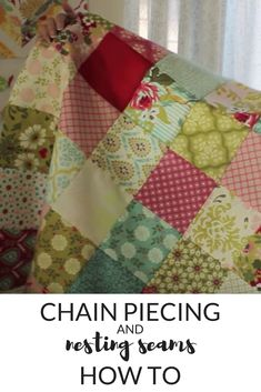 Chain piecing and nesting seams quilt tutorial