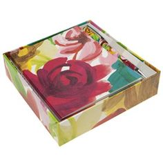 notecard and pen set painted floral