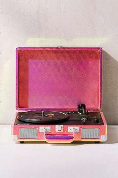 Slide View: 1: Crosley Rainbow Holographic Cruiser Bluetooth Record Player