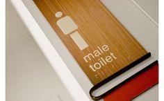 Modern restroom signage http://www.spec-net.com.au/press/0310/wwd_310310.htm #restroom #male #signage #modern