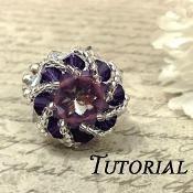 Celestial Crystal Rivoli Cocktail Ring - via @Craftsy