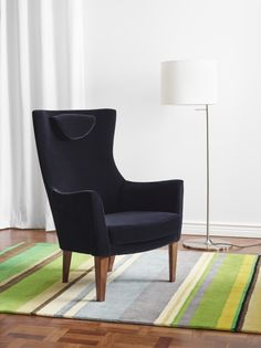 This armchair is made from molded high resilience foam that provides comfort and support – and keeps its shape for years. The STOCKHOLM collection, 2013.