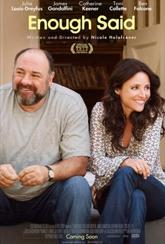FInally saw the latest indie comedy from director Nicole Holofcener and it was worth the wait. I know Julia Louis-Dreyfus is getting a lot of buzz, but for me this is James Gandolfini's movie. He's wonderful and I miss him even more.