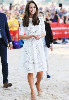Kate Middleton in white eyelet