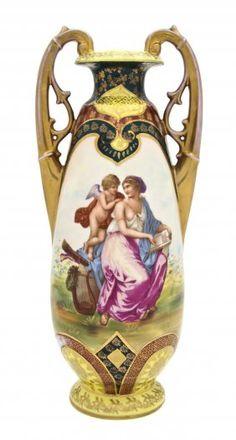 A Royal Vienna Porcelain Vase