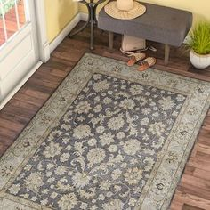 Charlton Home Stetler Hand-Tufted Wool Gray/Charcoal Area Rug Rug Size: Rectangle x Silky Sheets, Beige Area Rugs, White Sheer Curtains, Tufted, Rugs, Beige Carpet, Gorgeous Rug, Area Rugs, Blue Area
