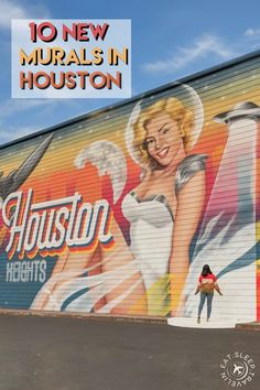 Y'all loved my last blog post on 5 new murals in Houston, so guess what? Here's 10 new murals in Houston! I have included addresses, pictures and tips for your visit. Stuff to do in Houston, things to do in Houston, Houston Art, houston heights mural, heights house hotel Texas Travel, Travel Usa, Houston Murals, Houston Heights, Space City, Special Pictures, I Want To Travel, Good Vibes Only, World Traveler