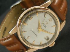 1955's OMEGA SEAMASTER AUTOMATIC SWISS MEN'S GOLD PLATED WATCH CAL#503
