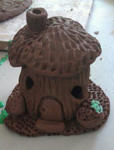 Clay fairy house- This looks very fun