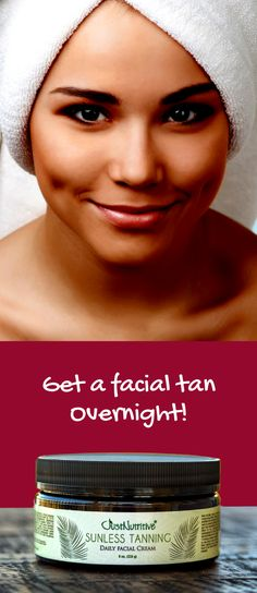 Sunless Tanning - Daily Facial Cream / A Nutritive Facial Self-Tanner for a Beautiful, Sunless Tan