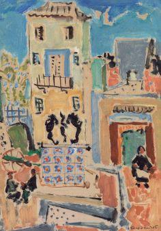 .;. Σπυρόπουλος Γιάννης – Giannis Spyropoulos [1912-1990] Στο χωριό Painter Artist, Artist Art, Modern Art, Contemporary Art, Greek Paintings, Greek Art, 10 Picture, Romanticism, Impressionist