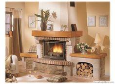 Wood Burner Fireplace, Home Fireplace, Fireplace Design, Fireplace Mantels, Fireplaces, Classic Fireplace, Custom Kitchens, New Homes, Villa