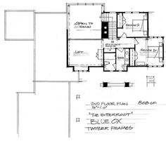 The Bitteroot - Timber Frame Home Floor Plan - Blue Ox Timber Frames