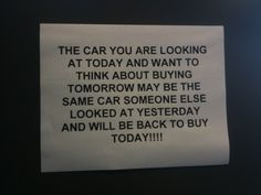 Hmmm might be true! Would this convince YOU to buy? #CarDogs #CarSalesmen