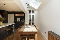 Holmewood Rd SW2 - Plus Rooms Kitchen Extension Layout, House Extension Design, House Design, Kitchen Interior, New Kitchen, Kitchen Design, Kitchen Furniture, Kitchen Ideas, Small Sitting Areas