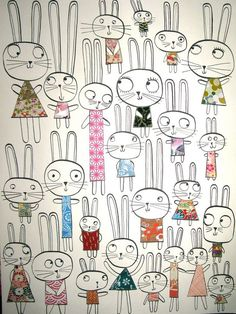 Lots of bunnies by Leigh Hodgkinson!