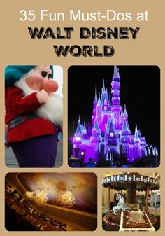There are so many fun things to do at Walt Disney World for adults and kids that it can be hard to know which to do while on vacation. Check out our list of 35 Must-Dos at Disney including tips, activities, food, shopping, special events, and more!