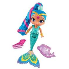 Shimmer and Shine Mermaid Bath Doll Shine – Novelty-Characters