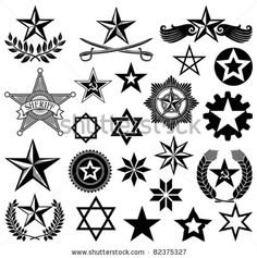 stock vector : set of vector stars